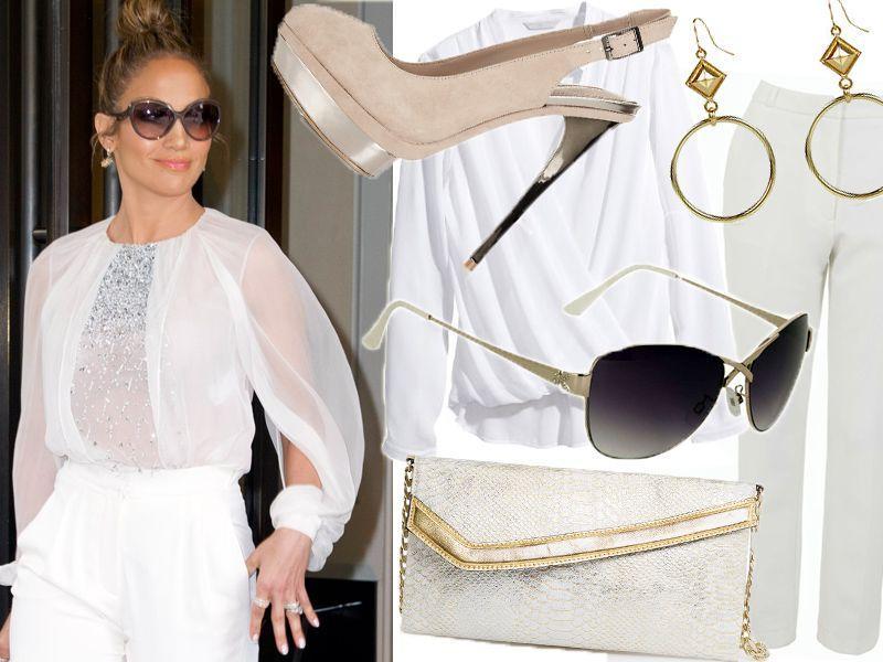 Jennifer Lopez w letniej bieli