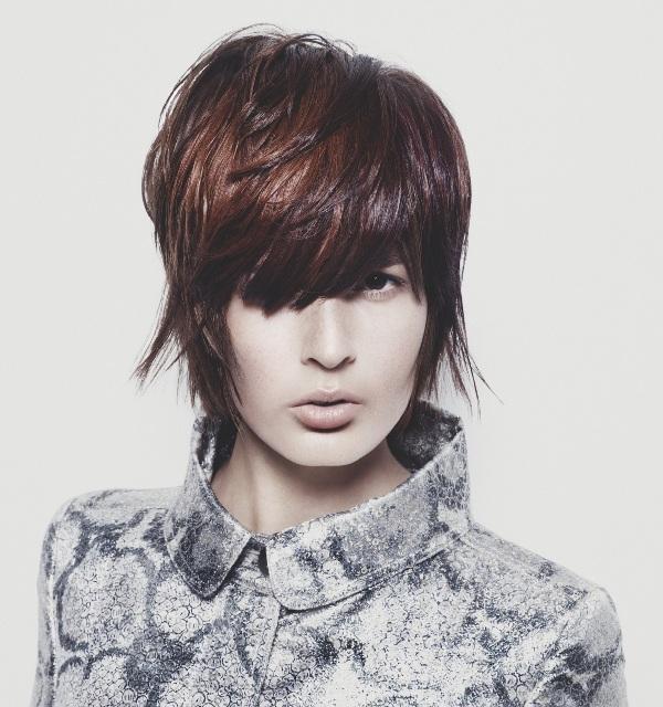 Krótkie Cieniowane Włosy Retro Eleganckie Fryzury