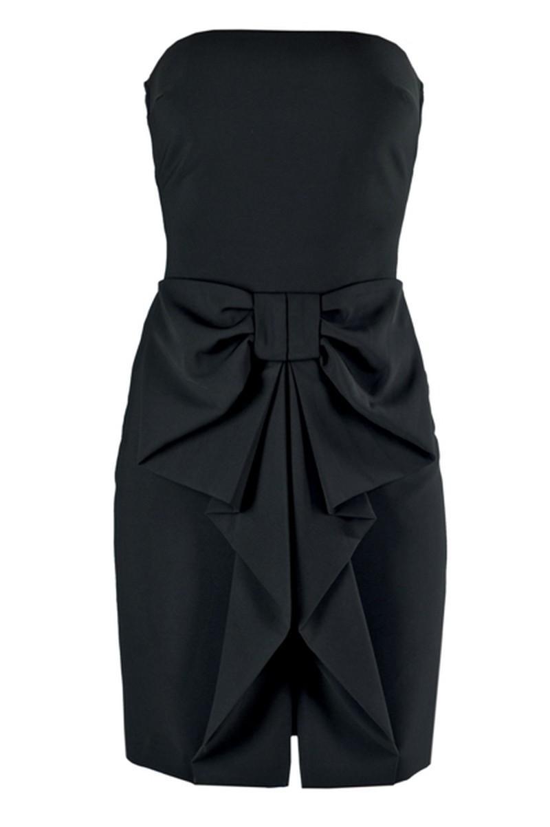 czarna sukienka Elisabetta Franchi Celyn b - wiosna/lato 2011