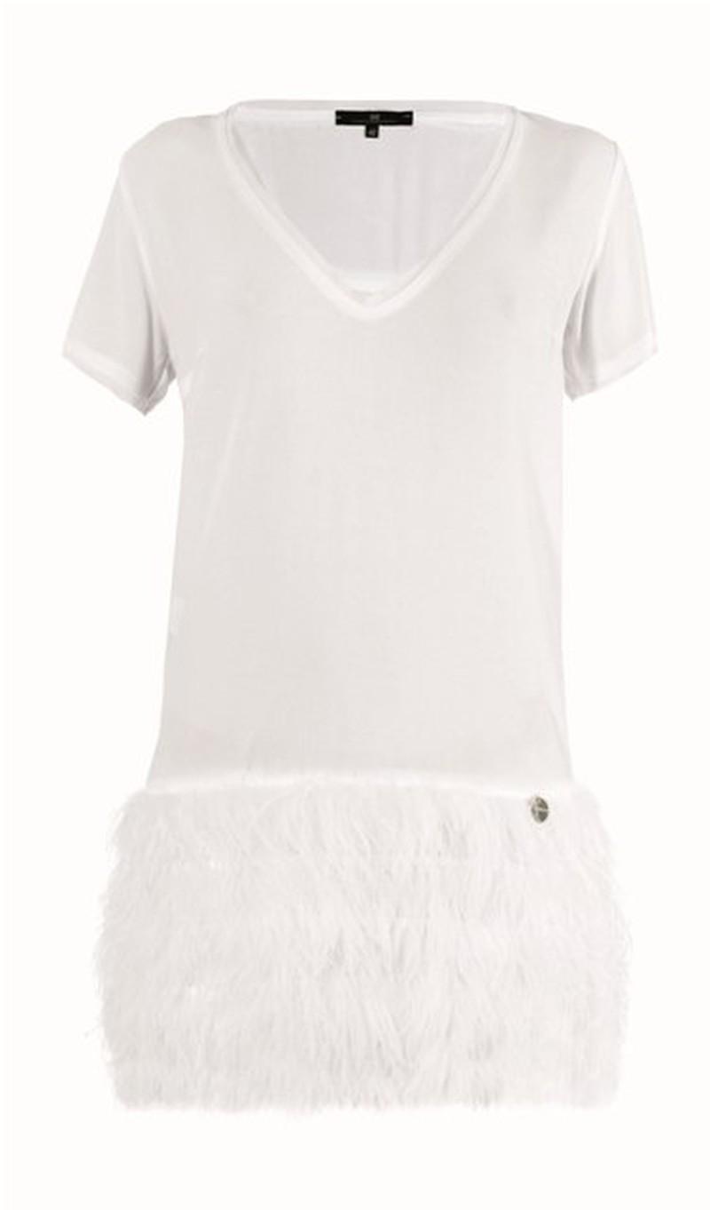biała sukienka Elisabetta Franchi Celyn b - wiosna/lato 2011