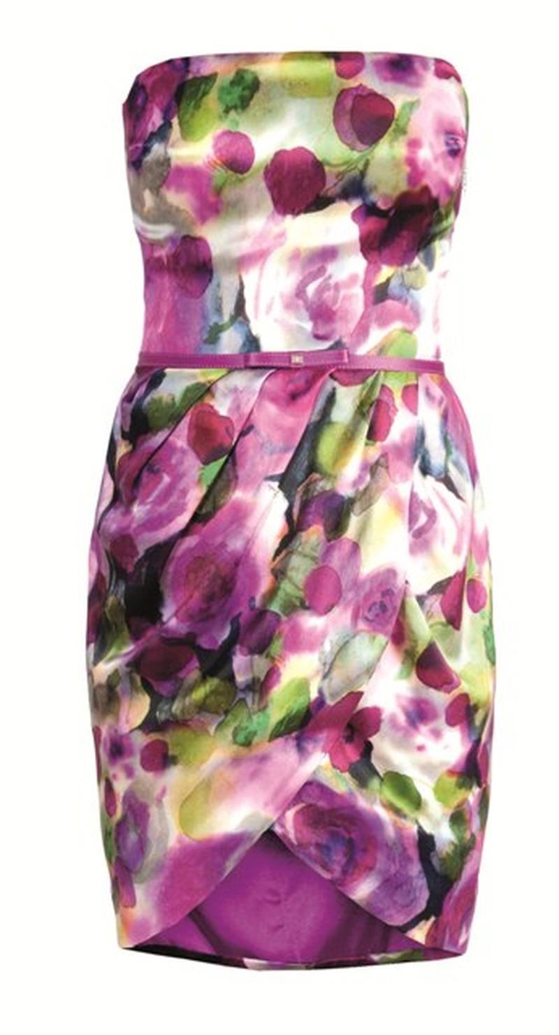 kolorowa sukienka Elisabetta Franchi Celyn b - wiosna/lato 2011