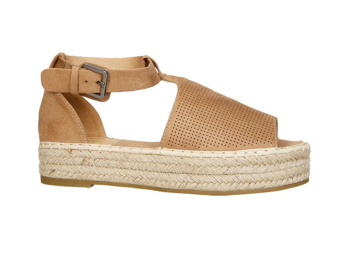 beżowe espadryle sandały