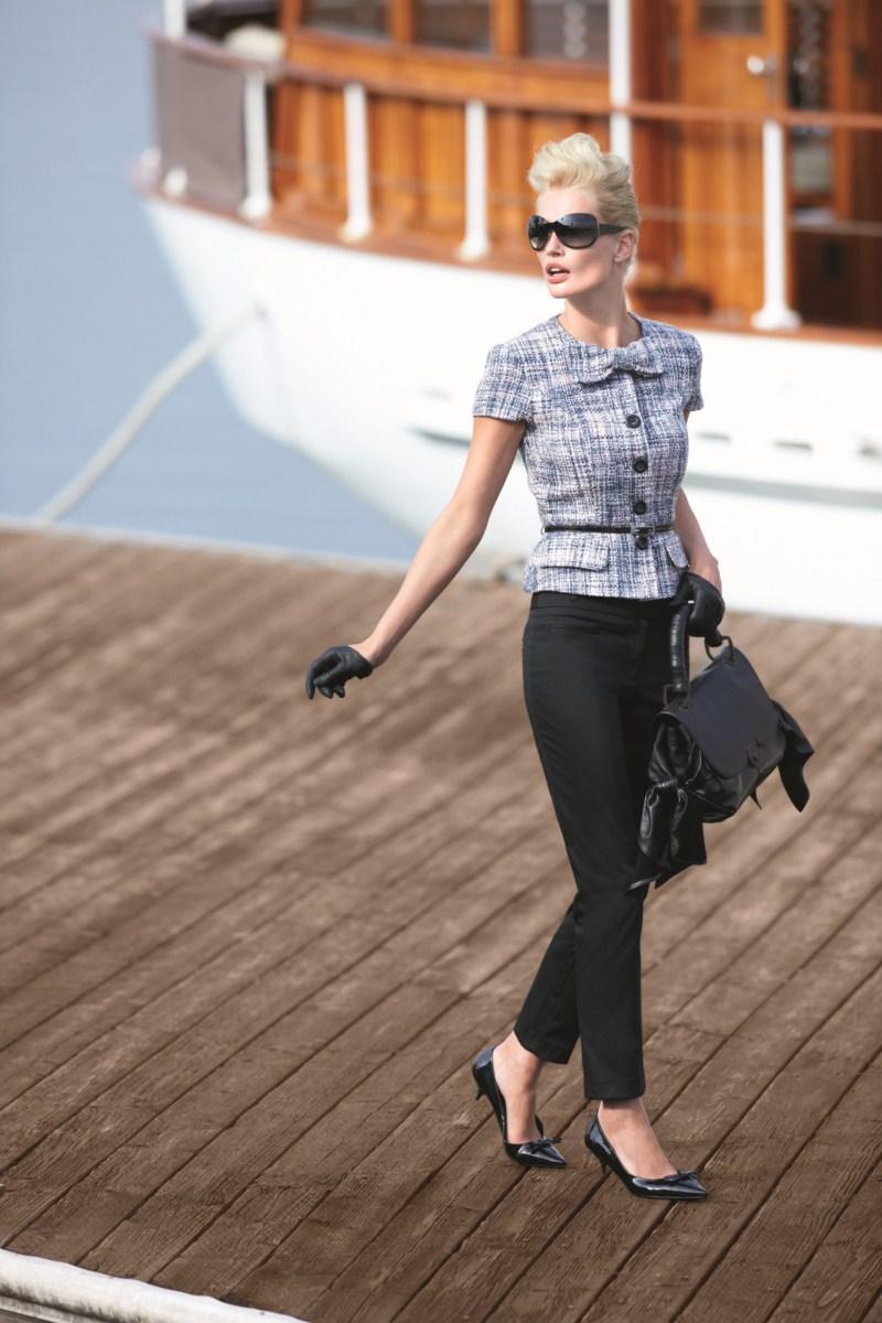 czarne spodnie F&F - wiosna/lato 2011