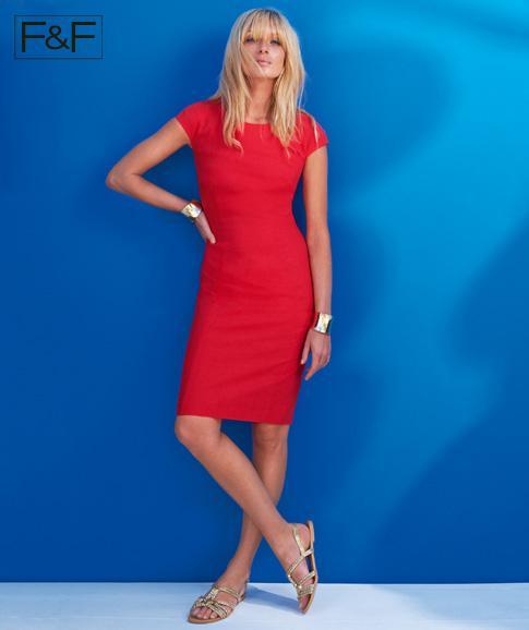 czerwona sukienka F&F  - moda na lato 2013