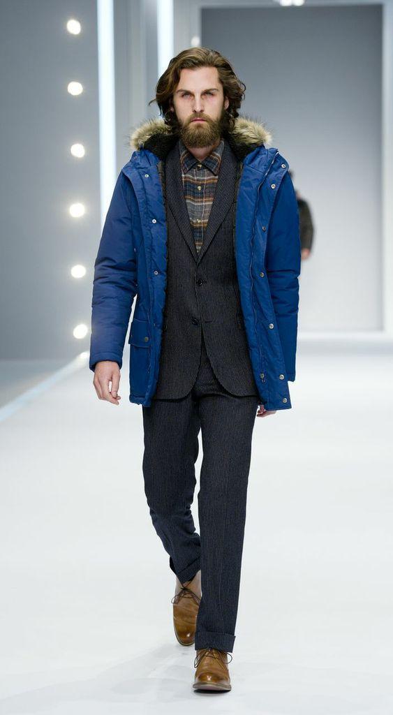 niebieska kurtka F&F - kolekcja jesienno-zimowa 2013
