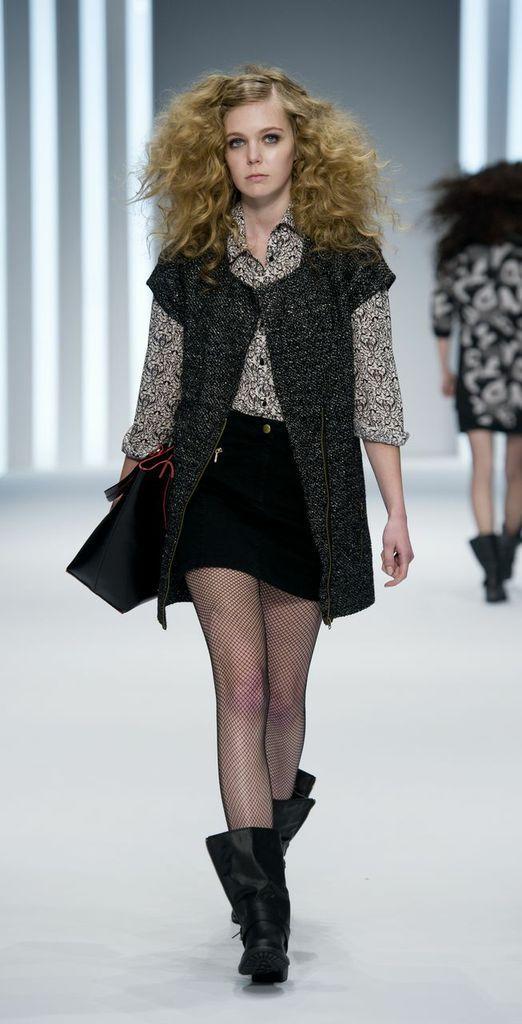 czarna spódniczka F&F mini - kolekcja jesienno-zimowa 2013