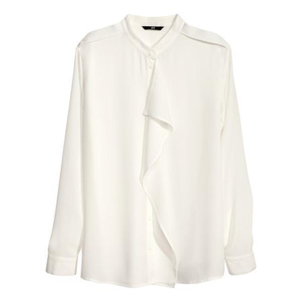 Bluzka z żabotem H&M