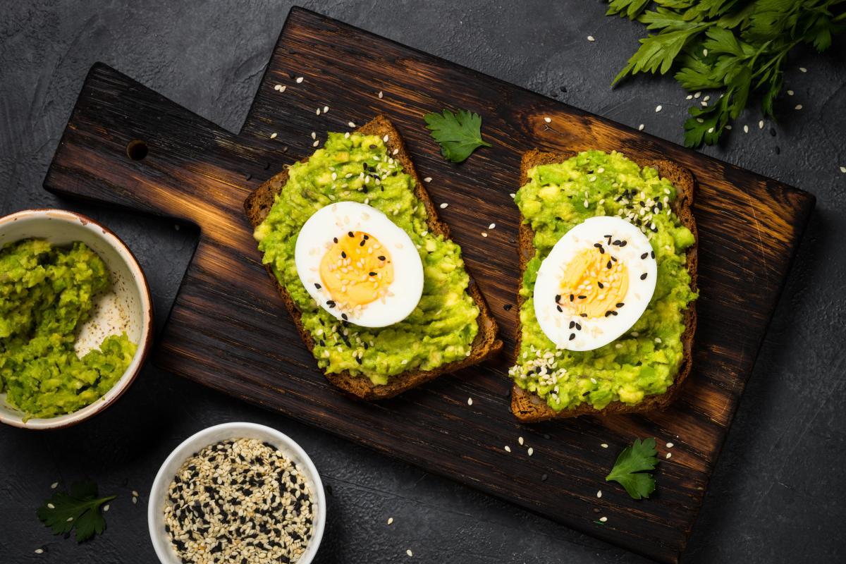fit śniadania z jajkiem