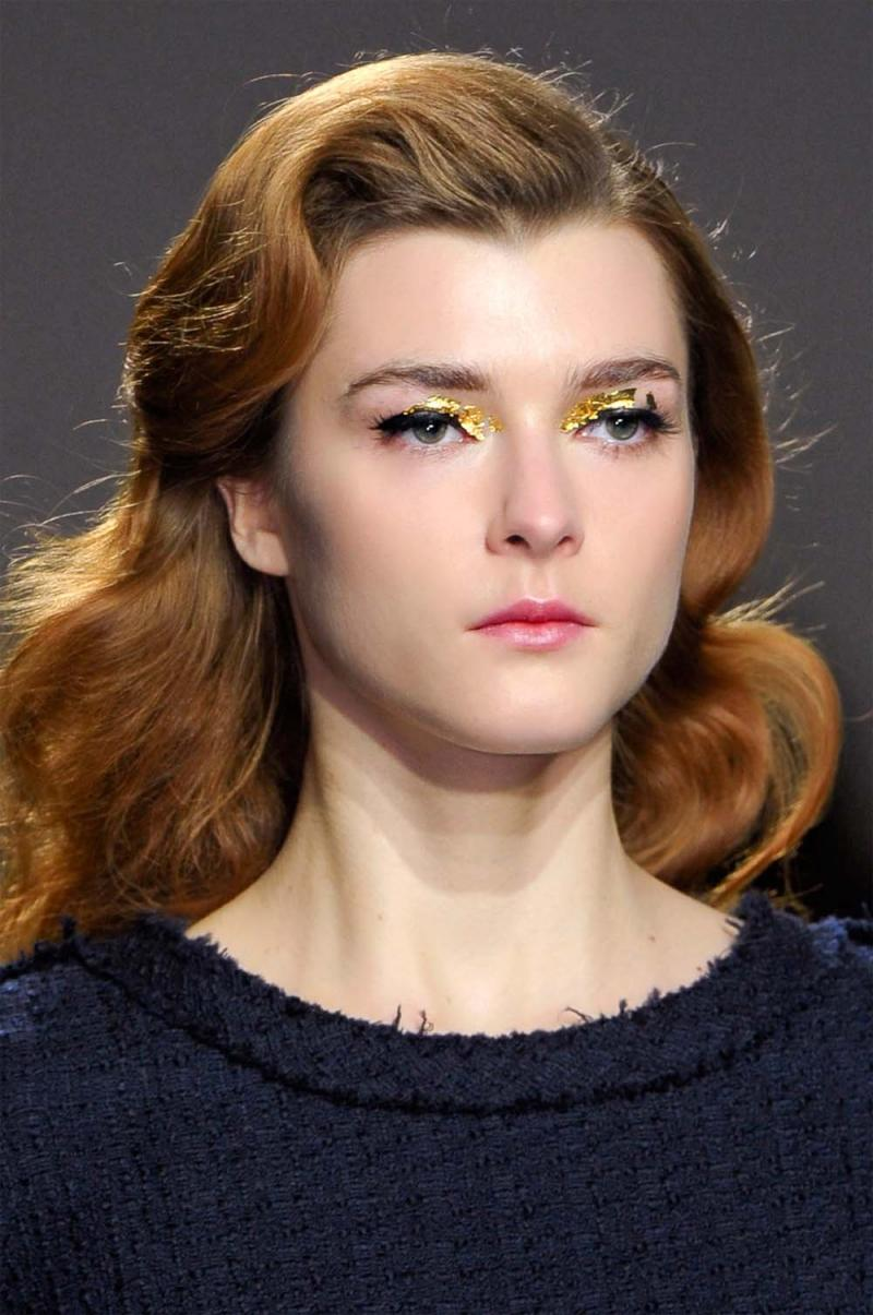Barokowy look z pokazu: Van der Ham, zima 2013, barok trendy makijaż, barok zima 2013, barokowy trendy, trendy barok, trendy makijaż zima 2013, makijaż karnawał 2013