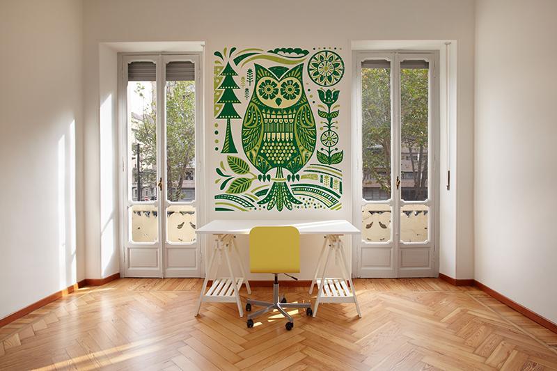 Piękna fototapeta w kolorze zielonym - dekoracje do wnętrz