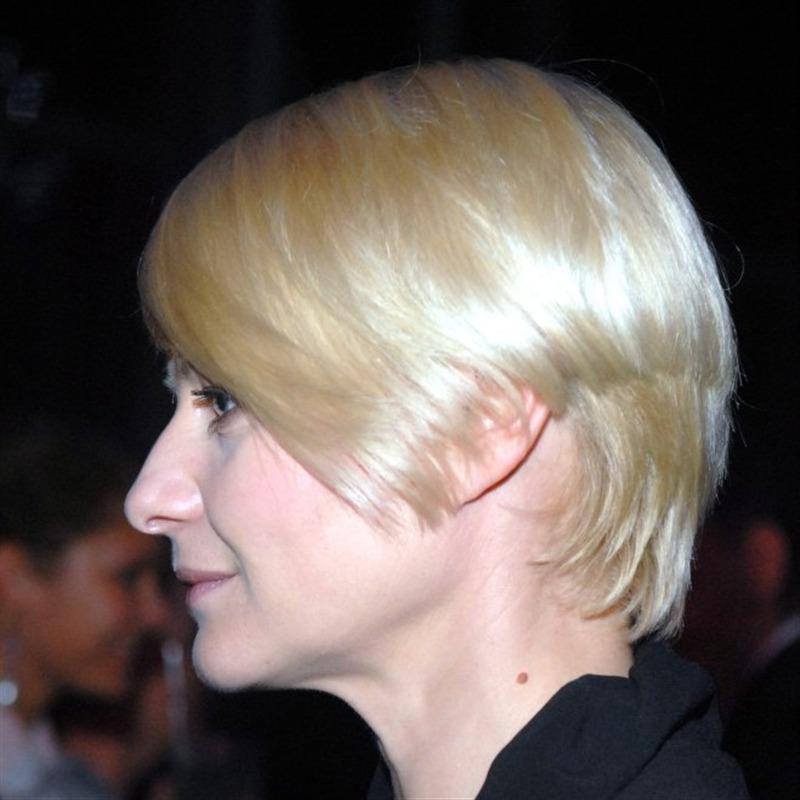 Asymetryczne Cięcie Jasny Blond Fryzury Z Krótkich