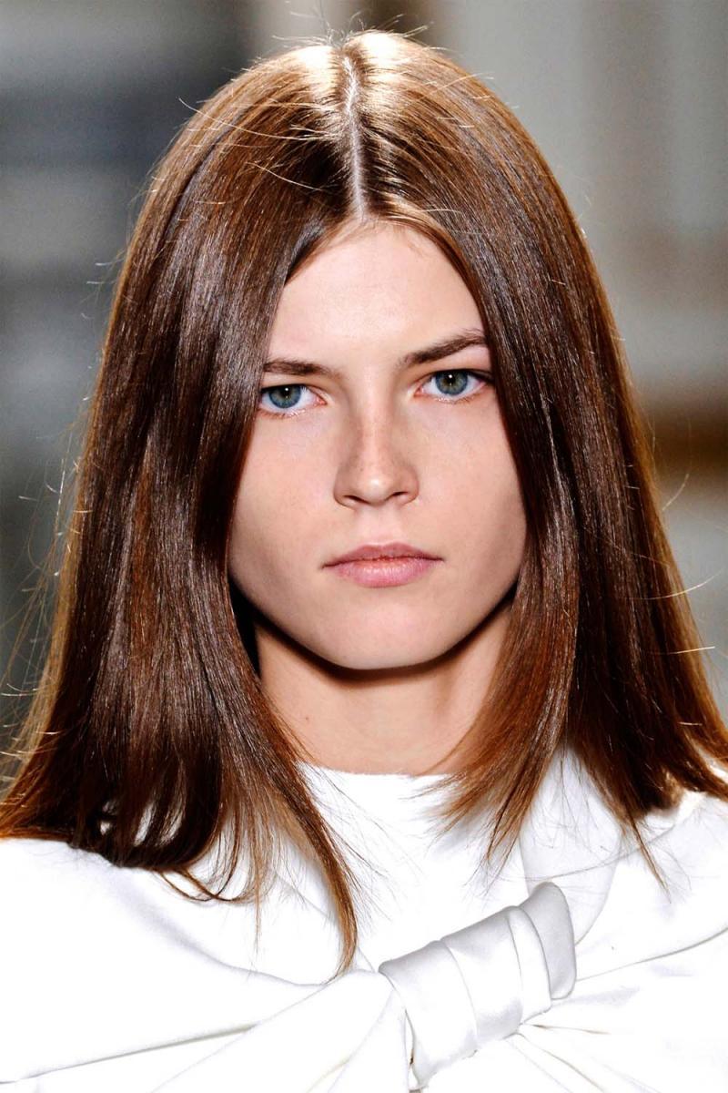 Proste Włosy Fryzura Z Pokazu Celine Wiosna 2013