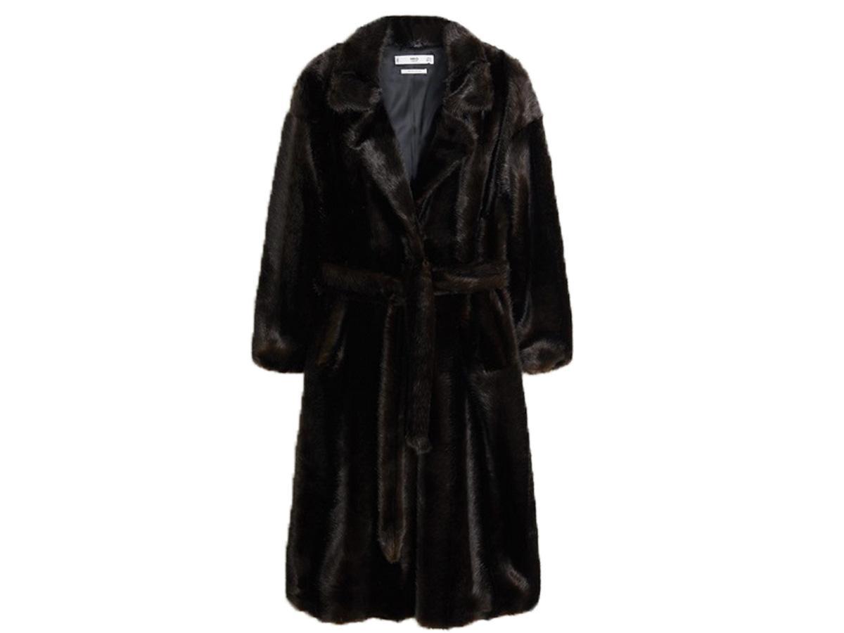 Futrzany płaszcz