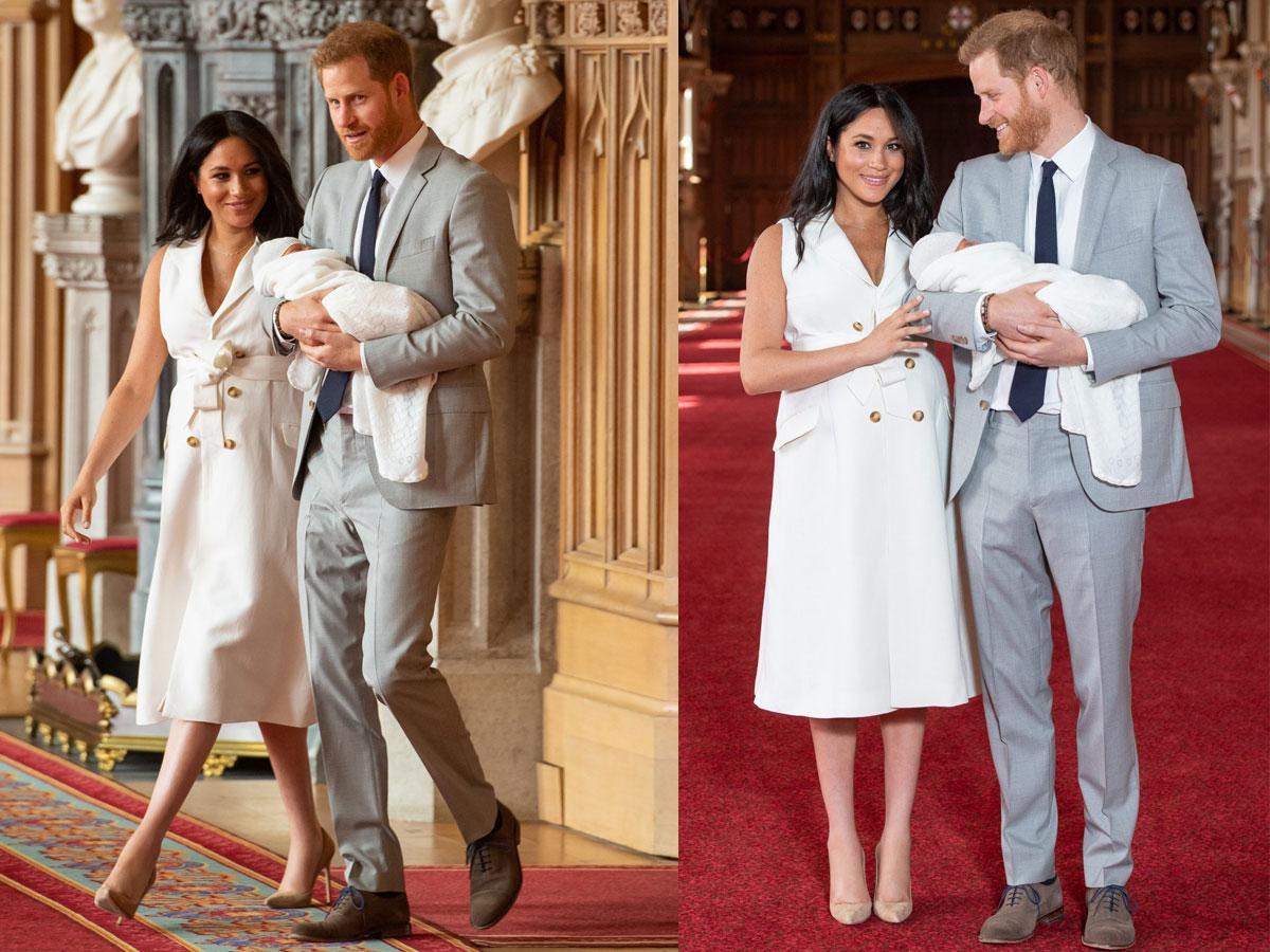 Trenczowa sukienka Meghan Markle z pokazania royal baby