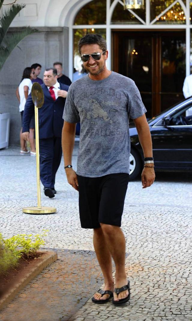 Gerard Butler na wakacjach w Rio de Janeiro
