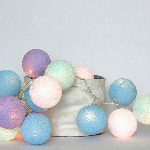 bawełniane kule świetlne