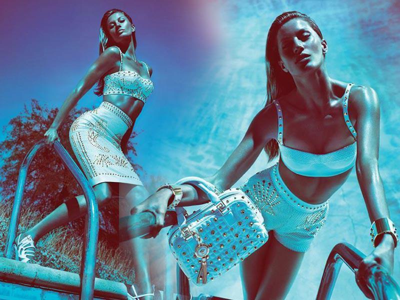 Gisele Bundchen, Versace, kolekcja wiosna/lato 2012