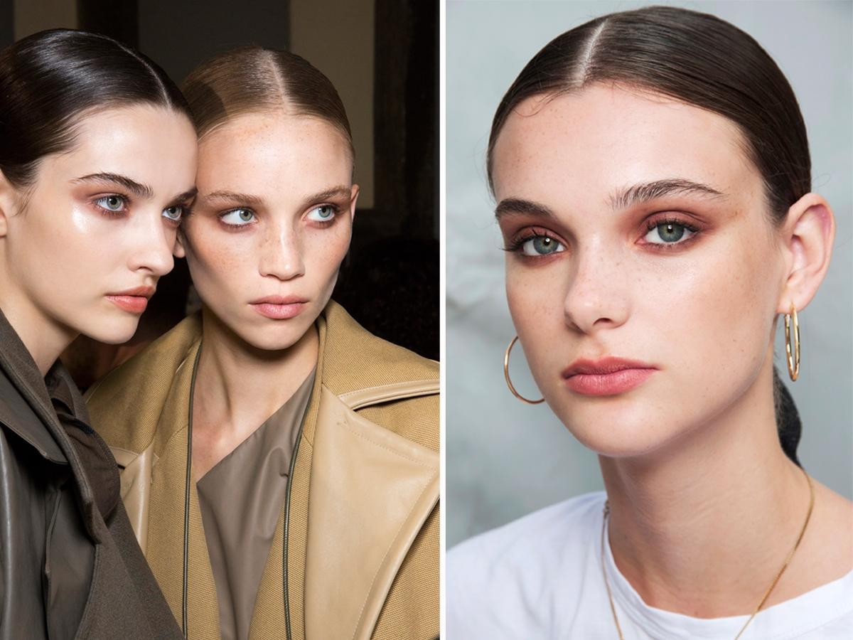 Modne fryzury 2019 - gładko zaczesane