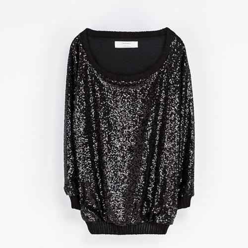 Cekinowy sweterek, Zara