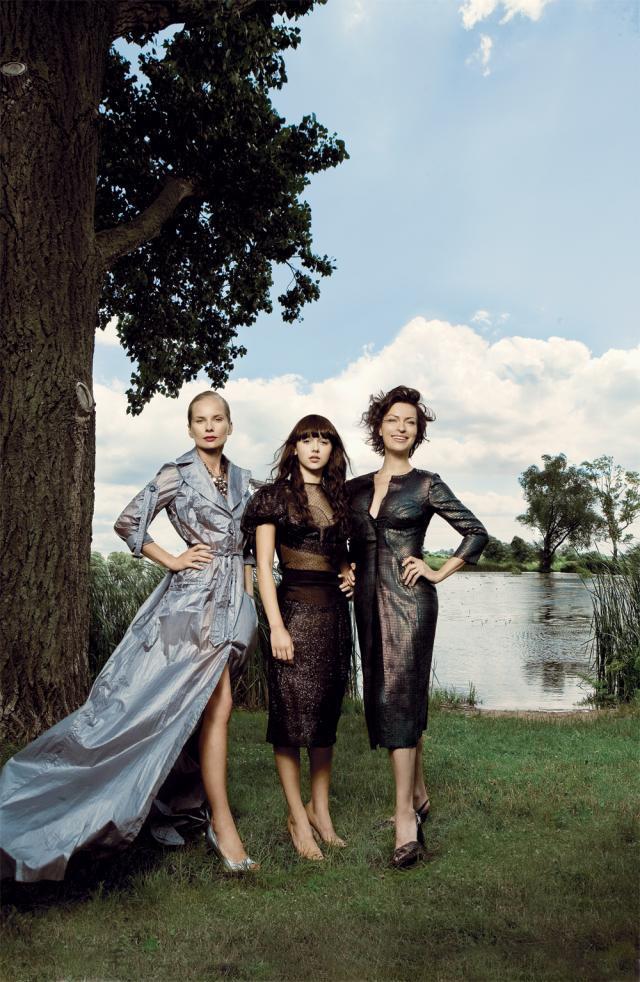 Magda Cielecka, Monika Brodka i Danuta Stenka w kreacjach z ostatniej kolekcji Gosi na 2007 rok.