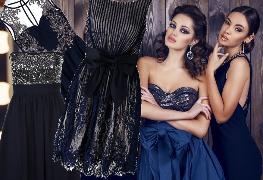 Granatowe sukienki na studniówkę 2015