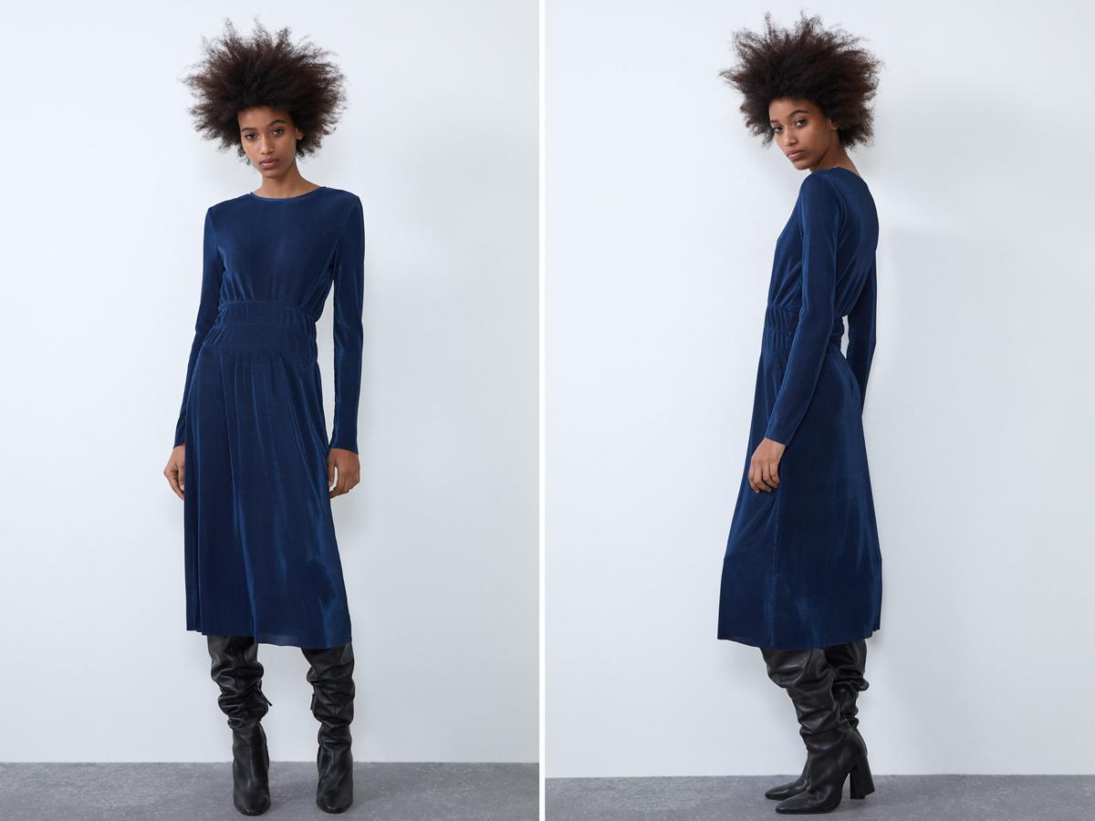 Granatowa sukienka Zara