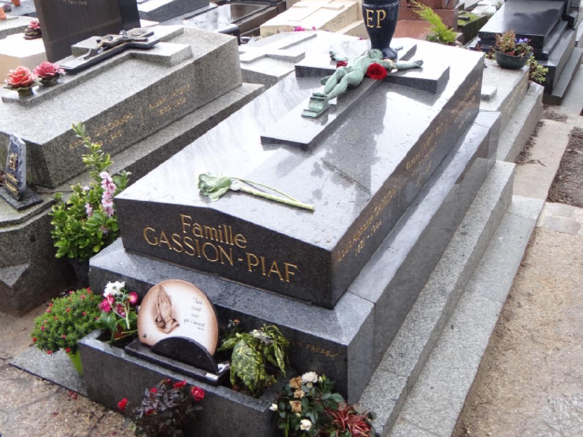 Grób Edith Piaf na cmentarzu Pere Lachaise