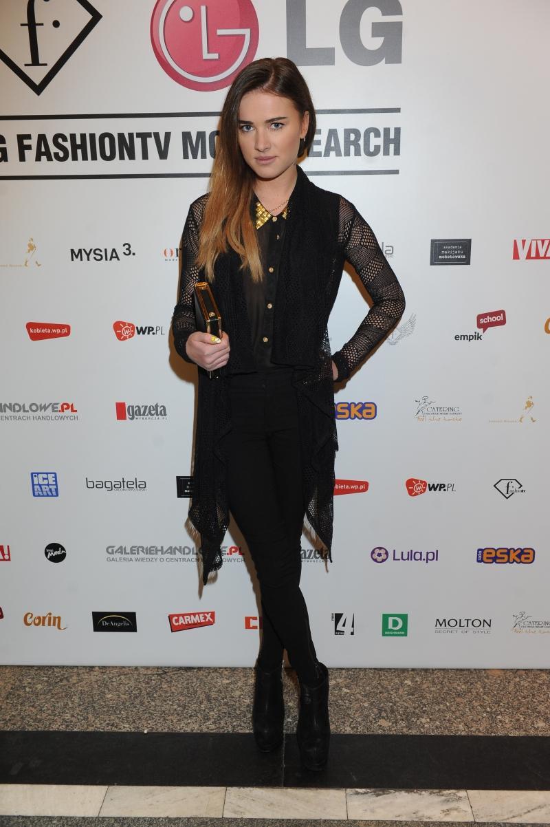 Julia Kuczyńskal na LG Fashion TV Model Search 2012