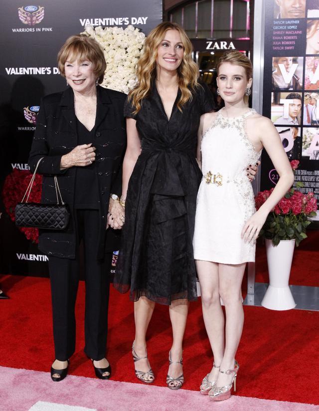 Shirley MacLaine, Julia Roberts i Emma Roberts