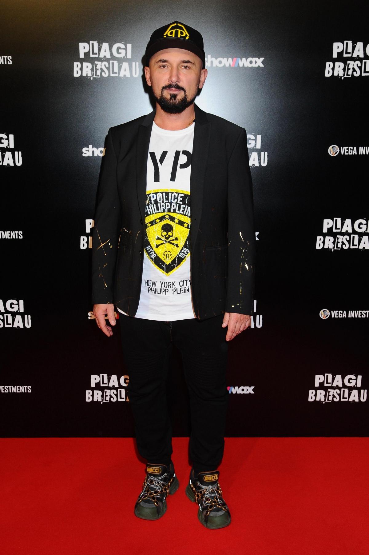 "Patryk Vega na premierze filmu ""Plagi Breslau"""