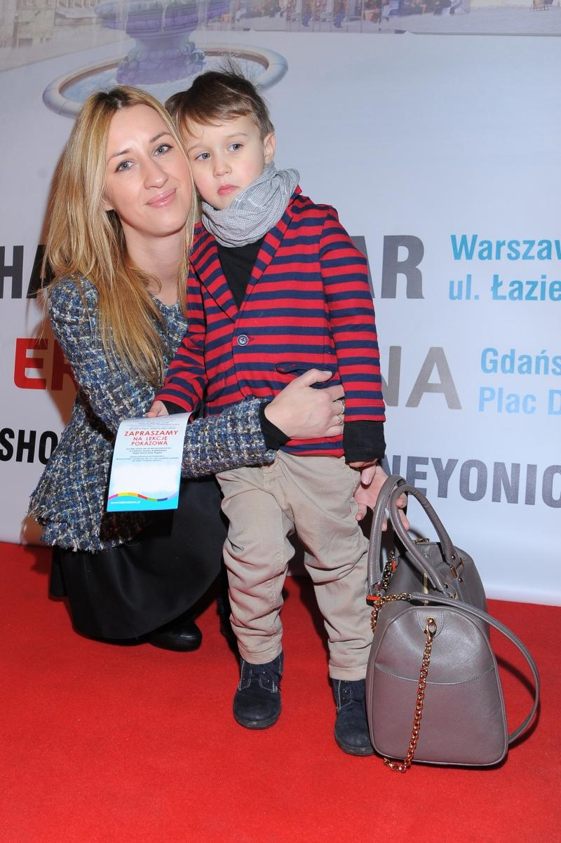 "Blanka Jordan z synem na premierze ""Disney on ice"""
