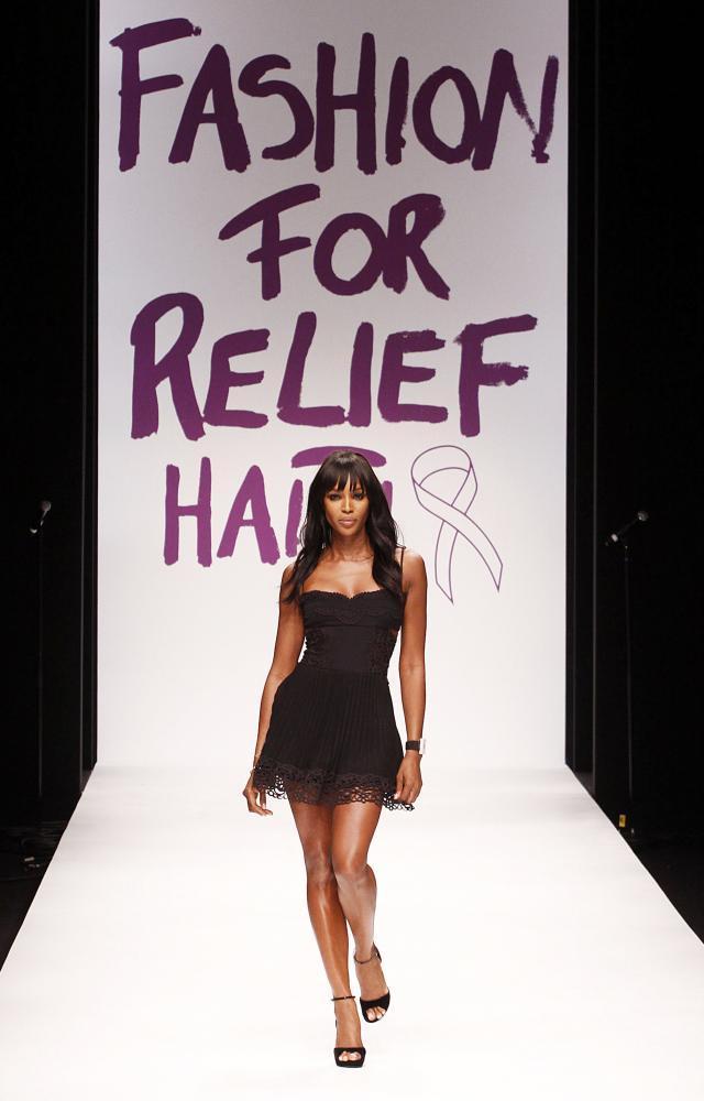 Naomi Campbell, Fashion for Haiti relief