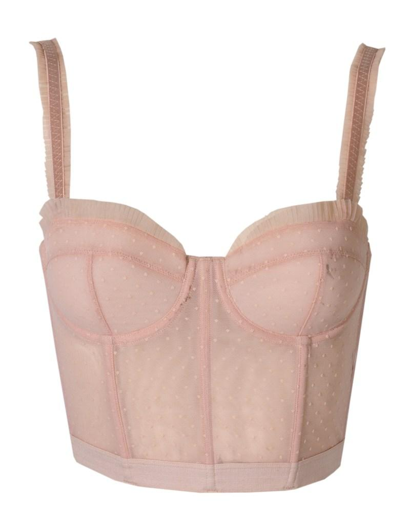 różowy gorset H&M - jesień-zima 2010/2011