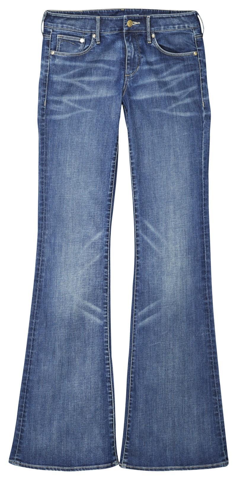 niebieskie dżinsy H&M dzwone - kolekcja wiosenno/letnia