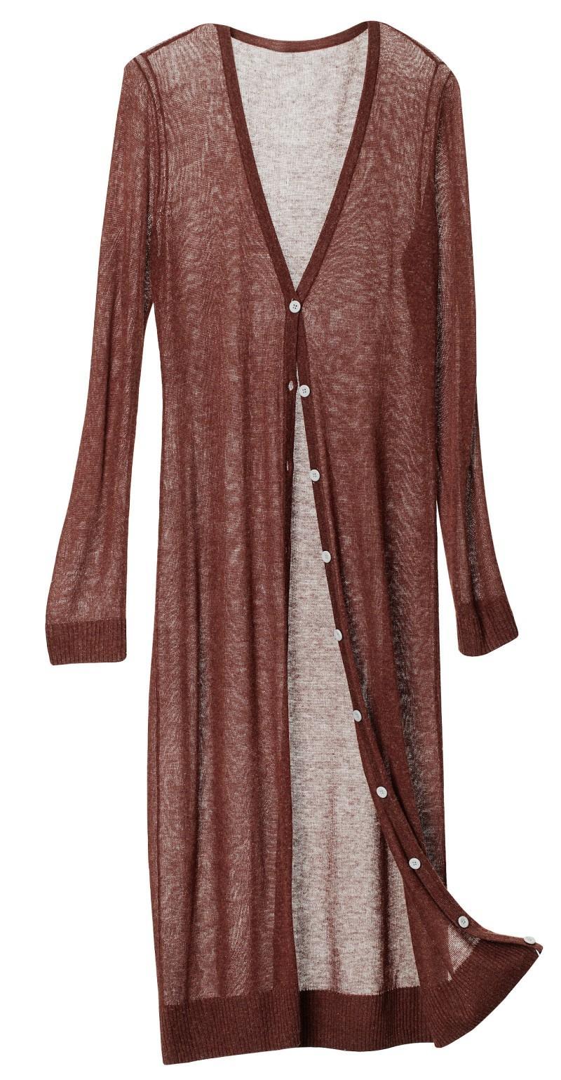 brązowy sweter H&M długie - wiosna/lato 2011