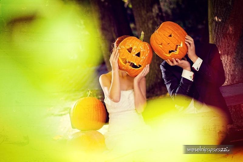halloweenowa sesja ślubna