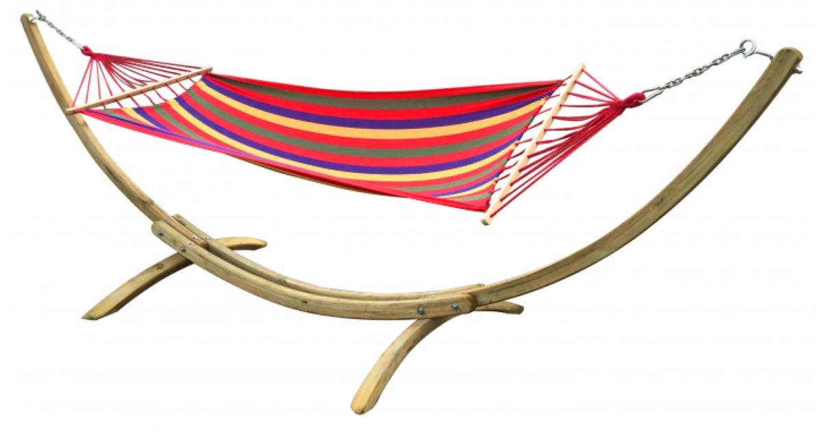 hamak ze stelażem kolorowy