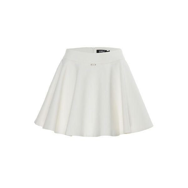 Rozkloszowana spódnica mini Simple CP, cena