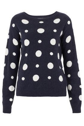 Czarno-biały sweter Topshop