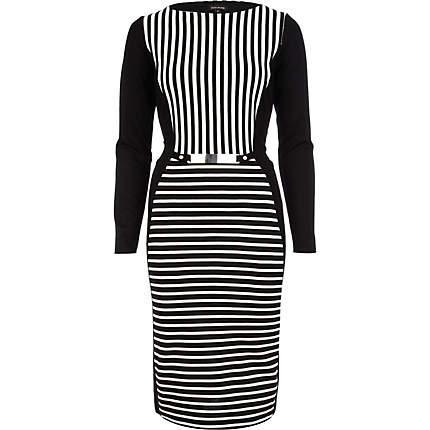 Czarno-biała sukienka River Island