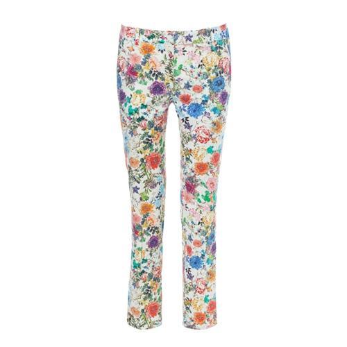 Modne wzory 2014, spodnie w kwiatki, Zara