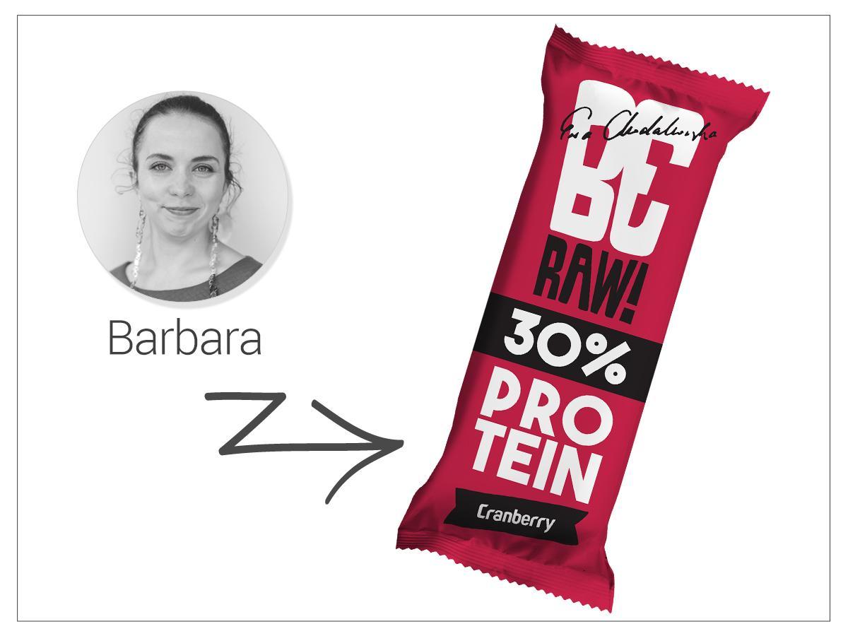 Baton protein 30%, żurawina, BeRAW, cena