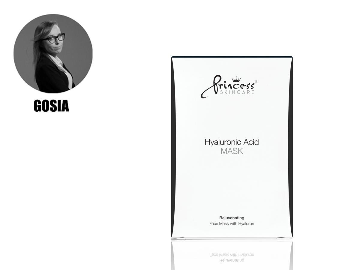 Hyaluronic Acid Mask Princess Skincare – Odmładzająca maska z kwasem  hialuronowym, cena ok. 150 zł/8 sztuk