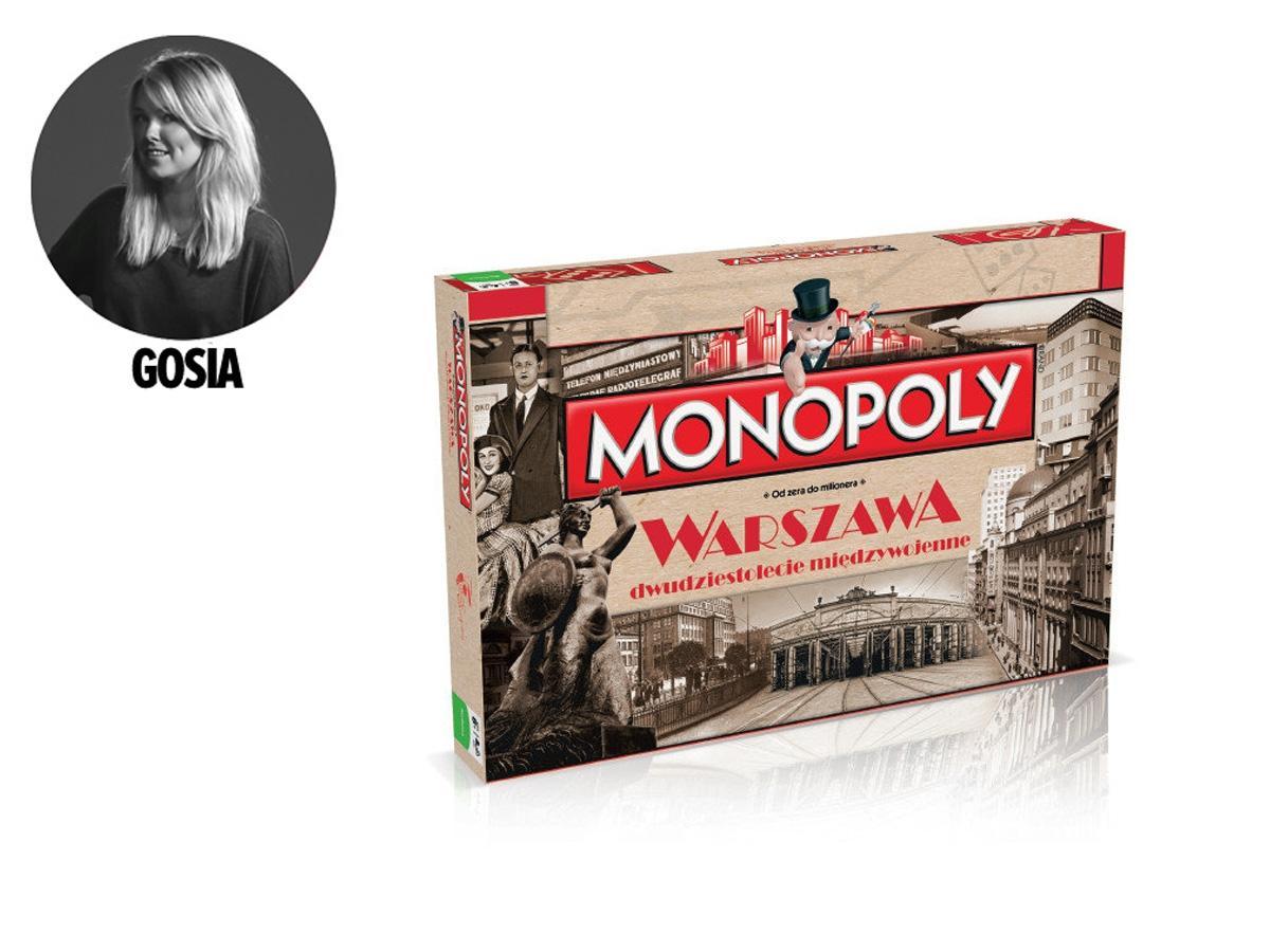 Gra planszowa Monopoly Warszawa Dwudziestolecie Międzywojenne, cena 99 zł