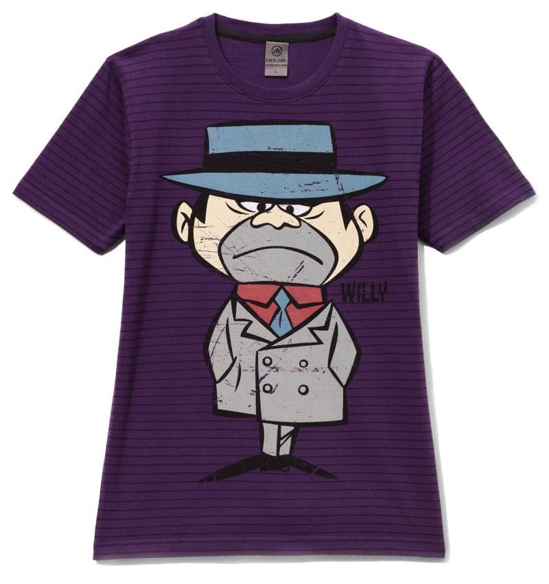fioletowy t-shirt House z nadrukiem - jesień-zima 2010/2011