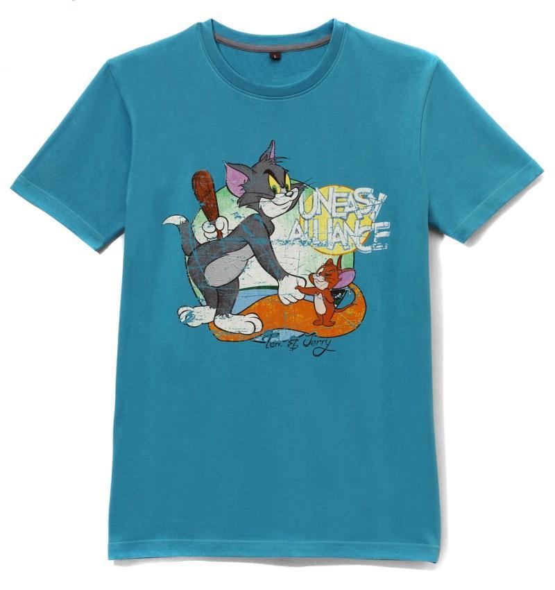 niebieski t-shirt House z nadrukiem - jesień/zima 2010