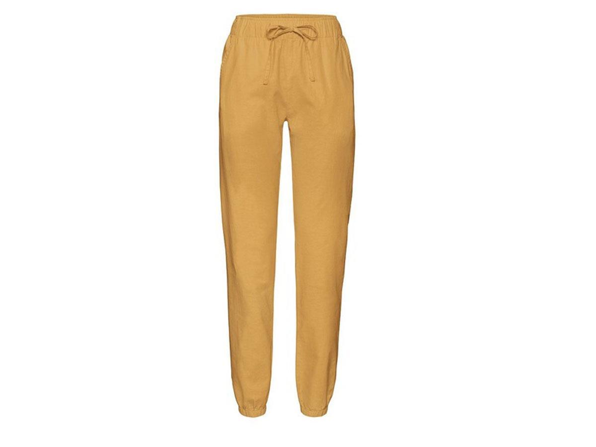 Lniane spodnie ze ściągaczami Esmara/Lidl
