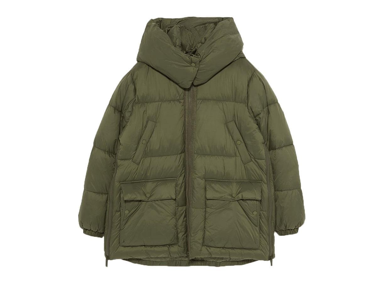 Pikowany płaszcz z tkaniny wodoodpornej, Zara, cena ok. 349,00 zł