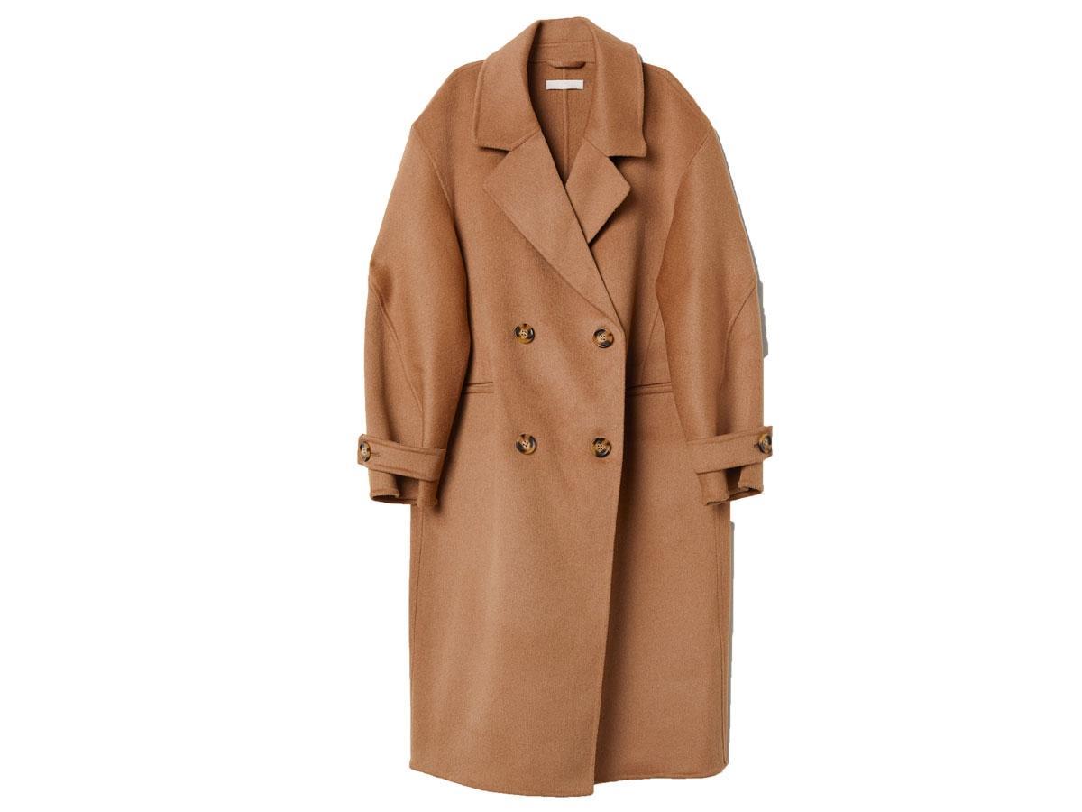 Płaszcz z domieszką kaszmiru, H&M, cena ok. 999,00 zł