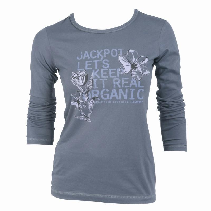 popielata bluzka Jackpot - z kolekcji jesień-zima